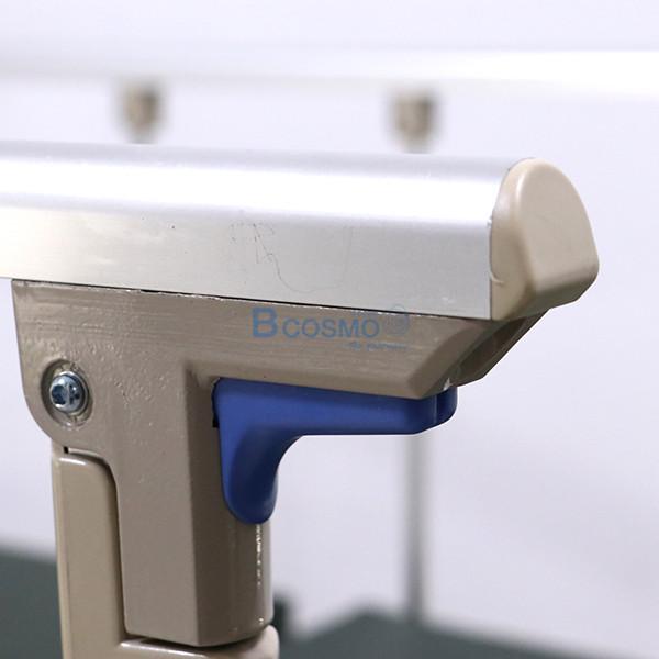 PB0106-CR-15-ลายน้ำ เตียงผู้ป่วย 3 ไก ไฟฟ้า ราวสไลด์สูง หัวท้าย ABS