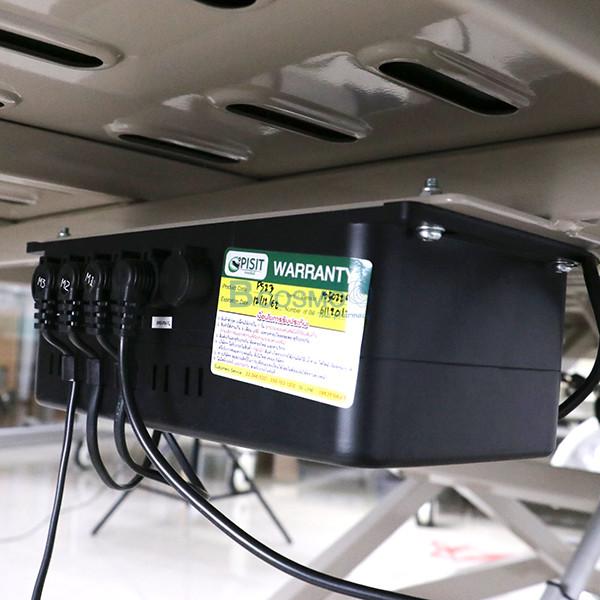 PB0106-CR-18-ลายน้ำ เตียงผู้ป่วย 3 ไก ไฟฟ้า ราวสไลด์สูง หัวท้าย ABS