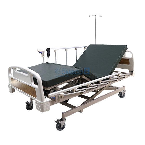 เตียงผู้ป่วย 3 ไก ไฟฟ้า ราวสไลด์สูง หัวท้าย ABS
