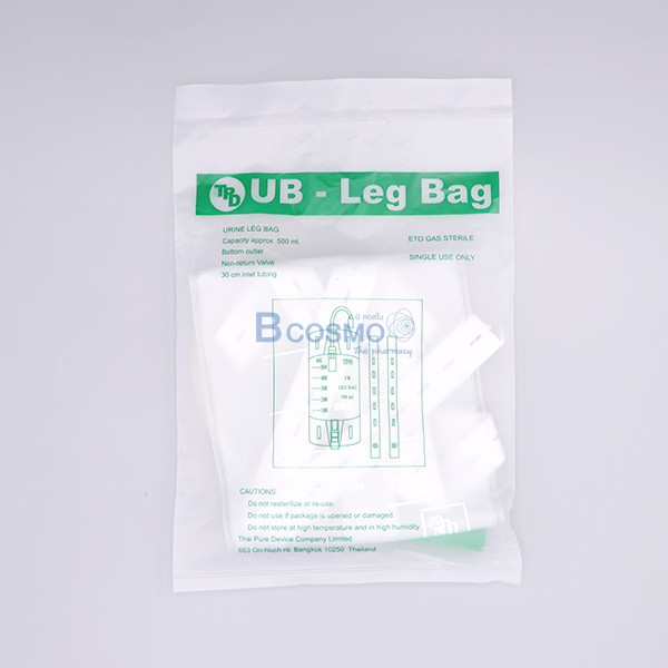 -UB-Leg-Bag-TPD-500-ml-EF0507-500-1 ถุงปัสสาวะติดขา UB-Leg Bag TPD 500 ml. แพ็ค 12 ชุด