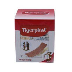[1 กล่อง 100 ชิ้น] พลาสเตอร์ปิดแผล ชนิดผ้ายืด ไทเกอร์พล๊าส พรีเมี่ยม 19x57mm.