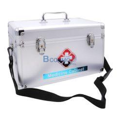 กระเป๋าปฐมพยาบาลอลูมิเนียมแบบหูหิ้วมีสายสะพาย ขนาด 14 นิ้ว