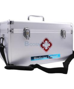 กระเป๋าปฐมพยาบาลอลูมิเนียมแบบหูหิ้วมีสายสะพาย ขนาด 16 นิ้ว