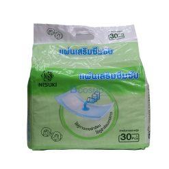 [4 แพ็ค] แผ่นเสริมซึมซับ NISUKI 600 ml. 30 ชิ้น