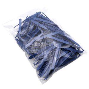 [แพ็ค 100 ชิ้น] ปากคีบพลาสติก 10.5x1x2.5 cm.