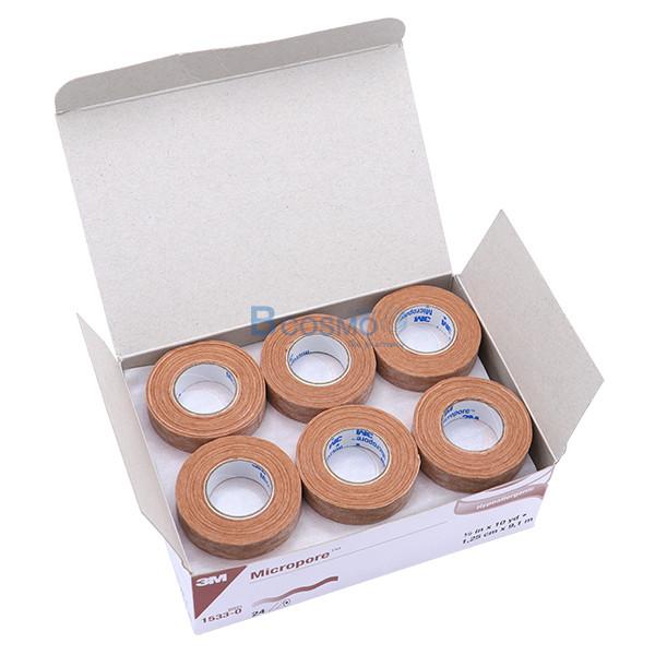-สีเนื้อ-MICROPORE-SKINTONE-3M-0.5x10-หลา-EF0454-0-3 [กล่อง 24 ม้วน] ไมโครพอร์ สีเนื้อ MICROPORE SKINTONE 3M 0.5'x10 หลา