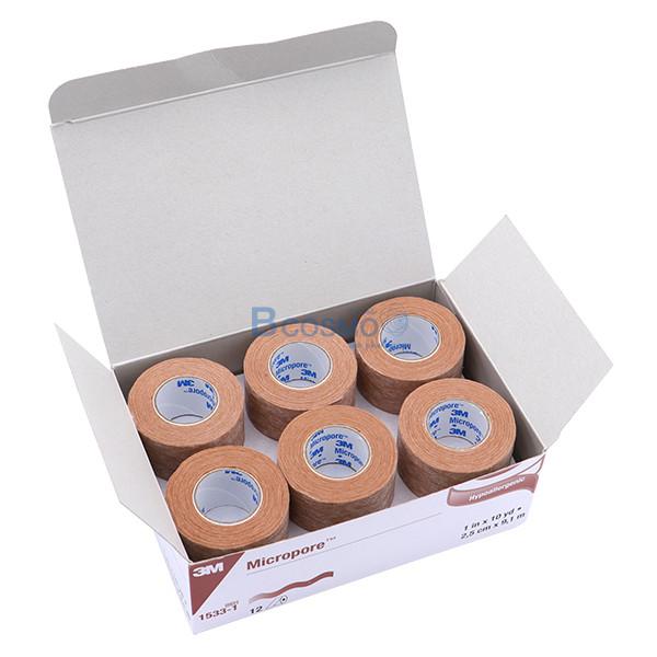 -สีเนื้อ-MICROPORE-SKINTONE-3M-1x10-หลา-EF0454-1-10-2 [กล่อง 12 ม้วน] ไมโครพอร์ สีเนื้อ MICROPORE SKINTONE 3M 1'x10 หลา