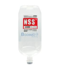 [ 1 ลัง 10 ขวด] น้ำเกลือชนิดฉีด N.S.S. 0.9% 1000 ml. ANB INJ.(NO SET)