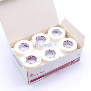[กล่อง 24 ม้วน]TRANSPORE WHITE 3M 0.5'x10 หลา
