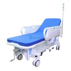 เตียงเข็นเคลื่อนย้ายผู้ป่วย แบบมือหมุน 1 ไก
