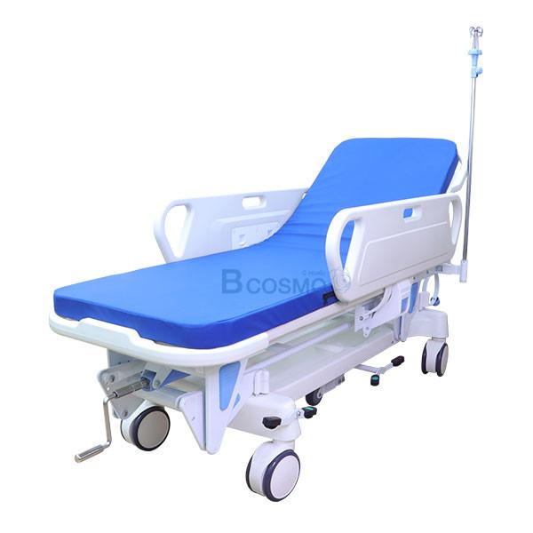 WC1601-รถเข็นเคลื่อนย้ายผู้ป่วย-แบบมือหมุน-1-ไก รถเข็นเคลื่อนย้ายผู้ป่วย แบบมือหมุน 1 ไก