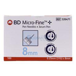 หัวเข็มปากกาอินซูลิน BD ขนาด 31G. x 5mm. | 31G. x 8mm. | 32G. x 4mm.