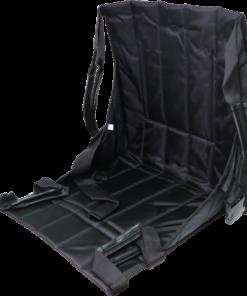 ผ้าประคองตัวผู้ป่วยพับได้ 2 ตอน J&X ขนาด 49×44 cm. สีดำ