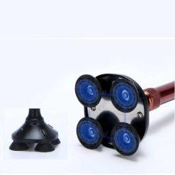 ไม้เท้าอลูมิเนียมไฟฉาย สีดำ ขนาด 65-93.5 cm.