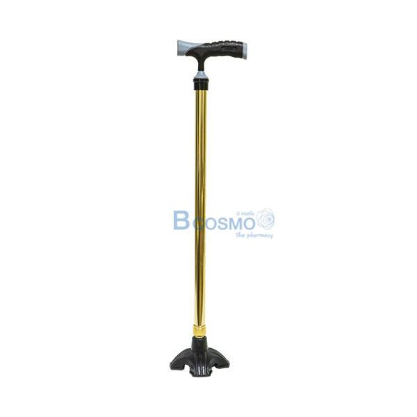 EW0026-Y-ไม้เท้าอลูมิเนียมฐาน-4-Y9207L-สีเหลือง ไม้เท้าอลูมิเนียมฐาน 4 Y9207L สีเหลือง