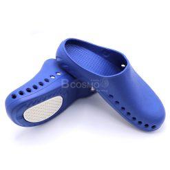 รองเท้าโรงพยาบาลกันลื่น BAOTOU  สีน้ำเงินพื้นขาว