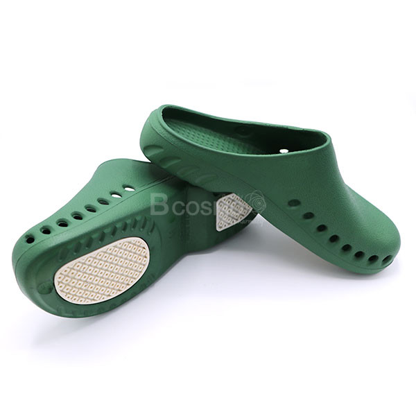 -BAOTOU-Size-39-40-สีเขียวพื้นขาว-CN-MT0213-M-GR-3 รองเท้าโรงพยาบาลกันลื่น BAOTOU  สีเขียวพื้นขาว