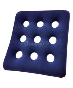 เบาะลมรองนั่งสี่เหลี่ยม Flocking Air Cushion 43×43 cm. สีน้ำเงิน