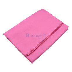 ผ้าปูที่นอนไม่รัดมุม สีชมพู