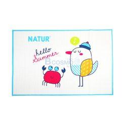 ผ้ายางธรรมชาติรองนอน NATUR SIZE 60*90 cm. ฟ้า