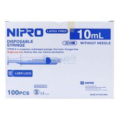 (กล่อง 100 ชิ้น) ไซริงค์หัวล็อก LL NIPRO 10 ml.