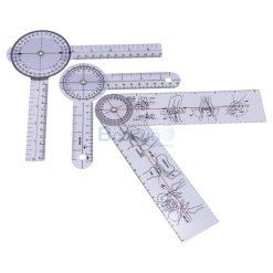 ไม้บรรทัดวัดมุมทางการแพทย์พลาสติก 360 องศา Goniometer 3 ชิ้น