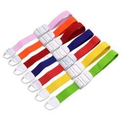 สายรัดทูนิเก้ Tourniquets ABS แบบหัวล็อกใหญ่ 45 cm. สี – [ สีชมพูอ่อน | สีส้ม | สีแดง | สีน้ำเงิน | สีแสด | สีเหลือง | สีเขียว | สีดำ | สีขาว | สีม่วง]