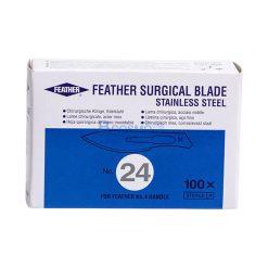 ใบมีดผ่าตัด สแตนเลส FEATHER 24