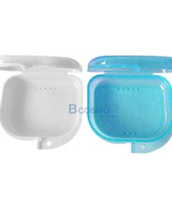 กล่องใส่ฟันปลอม รีเทนเนอร์ สีฟ้า