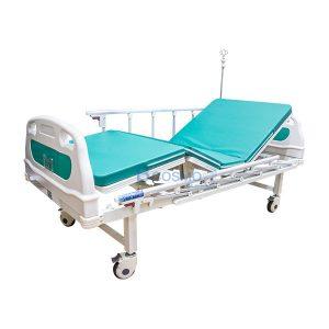 เตียงผู้ป่วย  2 ไก ไฟฟ้า ราวสไลด์สูง สีเขียว
