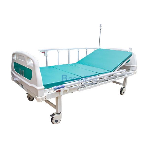 PB0109-GR-เตียงผู้ป่วยไฟฟ้า-2-ไก-YYY-B01AB01PB-หัวท้าย-ABS-ราวสไลด์สูง-พร้อมเบาะนอน-4-ตอน-5 เตียงผู้ป่วยไฟฟ้า 2 ไก หัวท้าย ABS ราวสไลด์สูง พร้อมเบาะนอน 4 ตอน