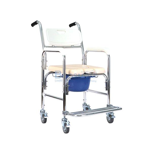 เก้าอี้นั่งถ่ายเบาะนิ่มขาว-Y614L-สีขาว