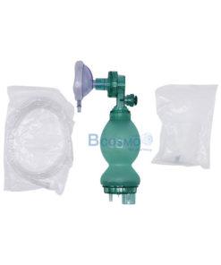 อุปกรณ์ช่วยหายใจมือบีบทารก Compower y-1 Ambu Bag PVC สีเขียว