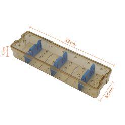 กล่องใส่เครื่องมือ นึ่งฆ่าเชื้อ พลาสติก 290x85x50 mm.