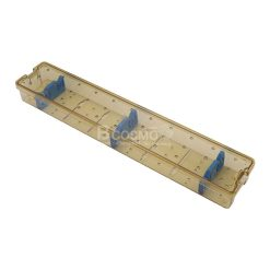 กล่องใส่เครื่องมือ นึ่งฆ่าเชื้อ พลาสติก 460x85x50 mm.