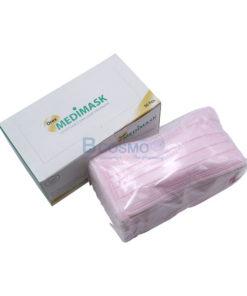 [1 กล่อง 50 ชิ้น] หน้ากากอนามัย 3 ชั้น OREX MEDIMASK  สี – [สีชมพู   สีขาว   สีม่วง   สีฟ้า   สีเขียว ]
