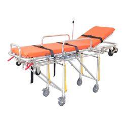 เตียงเข็นฉุกเฉิน Stretcher สีส้ม