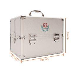 กระเป๋าปฐมพยาบาลอลูมิเนียม FIRST AID BOX MD-S002-1 แบบสามชั้นขนาดกลาง 12 นิ้ว