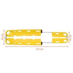เปลตักโพลีเมอร์แบบแยกส่วนได้ สีเหลือง
