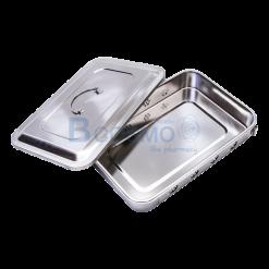 กล่องนึ่งเครื่องมือแพทย์มีฝา 11.5×7.5.2.2 นิ้ว