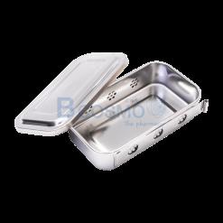 กล่องนึ่งเครื่องมือแพทย์มีฝา 8×4.5×2.1 นิ้ว