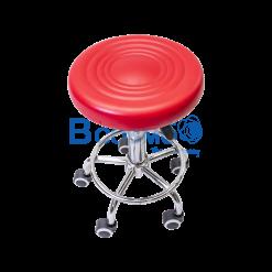 เก้าอี้กลมเบาะนิ่มแบบโช๊ค มีล้อ 201