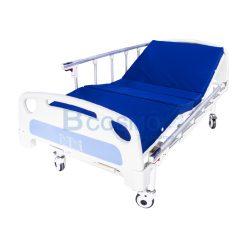 เตียงมือหมุน 2 ไก ราวสไลด์ สีฟ้า