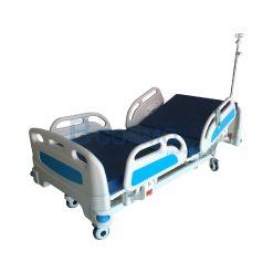 เตียงผู้ป่วยไฟฟ้า 5 ไก KJW502 หัวท้าย ABS ราวปีกนก พร้อมเบาะนอน 4 ตอน