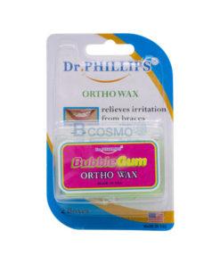 ขี้ผึ้งจัดฟัน ORTHO WAX (Dr. phillips) 2 กล่อง  กลิ่นบับเบิ้ลกัม