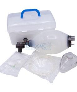 อุปกรณ์ช่วยหายใจมือบีบ Ambu Bag ซิลิโคน สีขาว