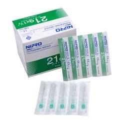 [1 กล่อง 100 ชิ้น] เข็มฉีดยา NIPRO 21GX1 1/2