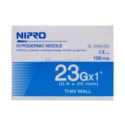 [1 กล่อง 100 ชิ้น] เข็มฉีดยา NIPRO 23Gx1นิ้ว