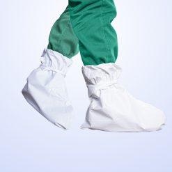 ถุงคลุมรองเท้าพลาสติก PPE 20 ชิ้น