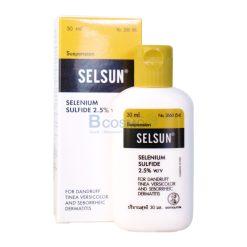 Selsun เซลซั่นแชมพูยา กำจัดรังแคและกลากเกลื้อนที่ผิวหนัง 30 ml.